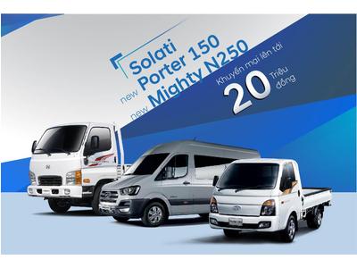 Hyundai Thành Công khuyến mại 20 triệu đồng cho 3 sản phẩm xe thương mại