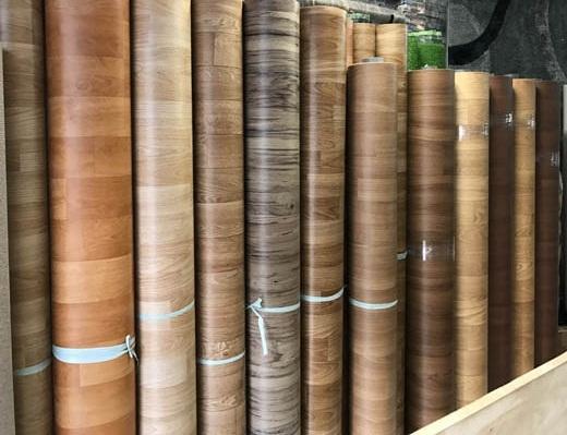 Simili trải sàn có rất nhiều màu vân gỗ đẹp