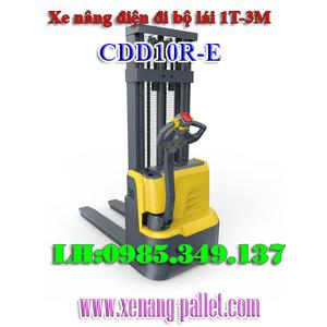 Xe nâng điện đi bộ lái CDD10R-E 1 tấn cao 3m