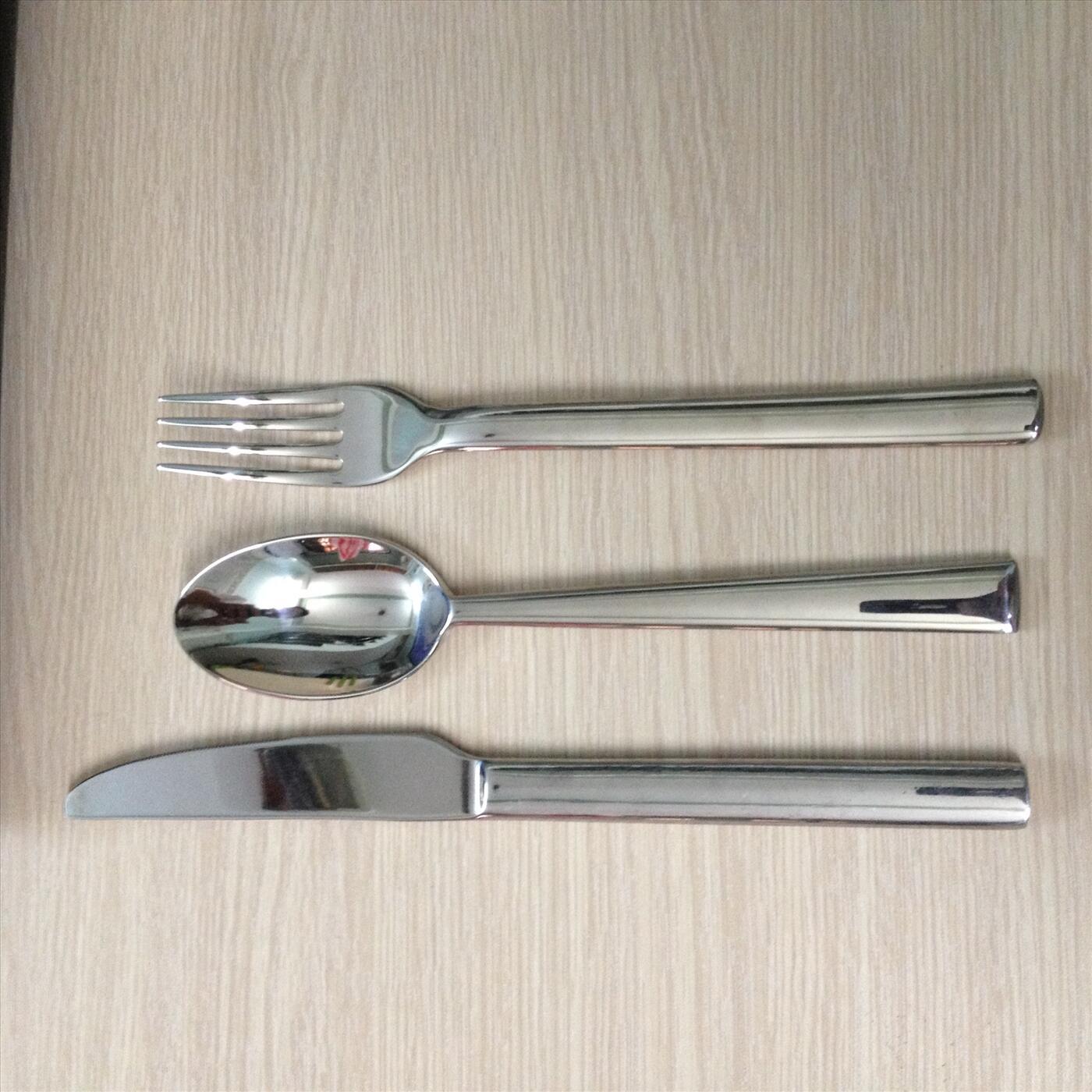 Bộ dao muỗng nĩa đuôi vuông 3 món