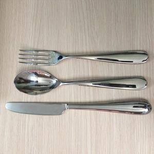 Bộ dao muỗng nĩa đuôi tròn 3 món alessi