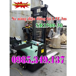 XE NÂNG ĐIỆN ĐỨNG LÁI 1500Kg- 3m OPK SR1500-30