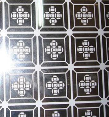 Inox hoa văn hình đồng tiền may mắn