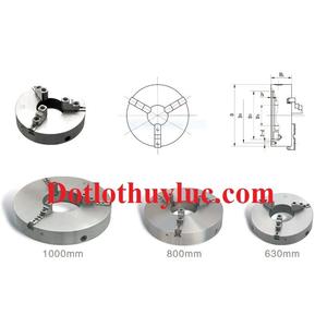 Mâm cặp 3 chấu tự định tâm máy tiện k11-320 đường kính 320mm