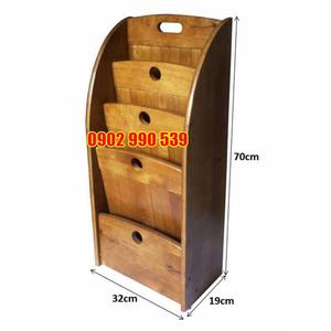 Kệ đựng báo gỗ cao su