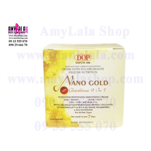 Kem mặt (120g) hạt vàng 24k Dop Lascad® Nano Gold Glutathione 9in1 siêu trắng cao cấp - 0933555070 -
