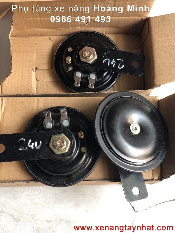 Còi/ kèn xe nâng điện 24V   Phụ tùng xe nâng điện