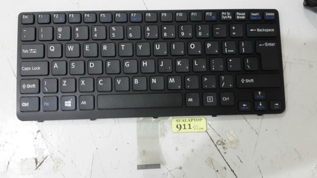 bàn phím laptop sony sve14 đen