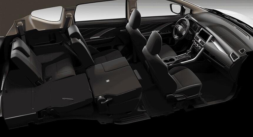 Khả năng gập ghế linh hoạt trên xe Xpander số tự động