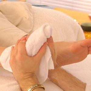 Khăn Bông Spa Massage Chân 34x50 70g Trắng