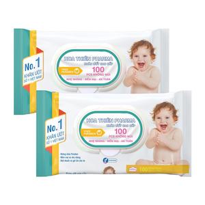 Khăn giấy ướt Hoa Thiên Pharma 100M không mùi (100 Miếng)