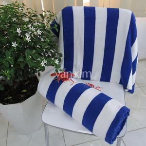 Hotel Pool Towel – Premium 90x180 900g White Blue