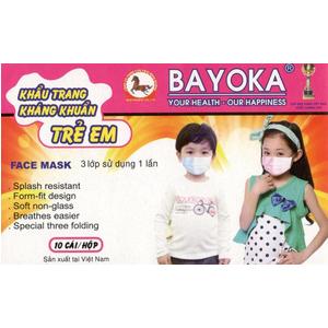 Khẩu trang kháng khuẩn trẻ em Bayoka