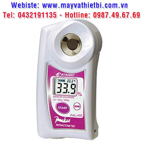 Khúc xạ kế Atago đo nồng độ bari clorua - Model PAL-45S