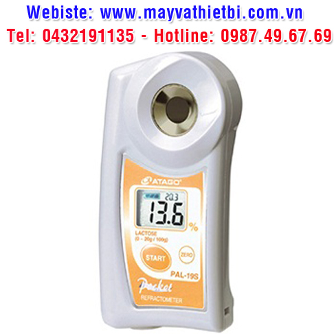 Khúc xạ kế Atago đo nồng độ lactose - Model PAL-19S