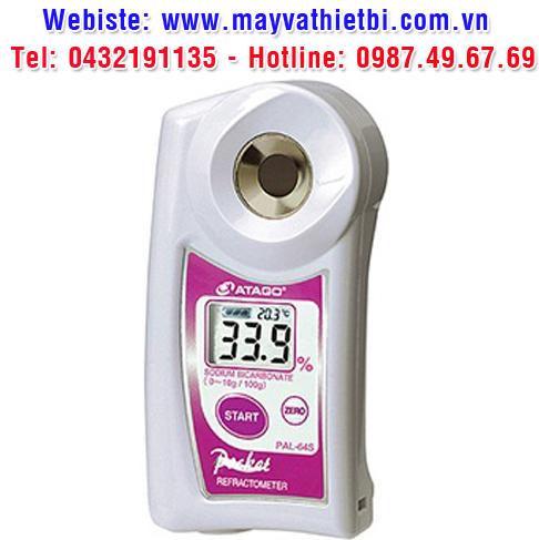 Khúc xạ kế Atago đo nồng độ natri bicacbonat - Model PAL-64S