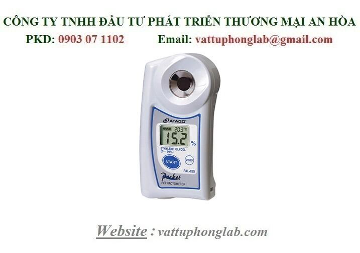 Khúc Xạ Kế ATAGO Đo Nồng Độ Và Nhiệt Độ Đông Đặc Của Ethylene Glycol(°F) Model:PAL-92S