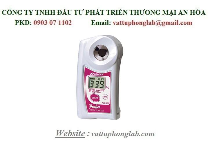 Khúc Xạ Kế Đo Nồng Độ Bạc Nitrat ATAGO Model:PAL-60S