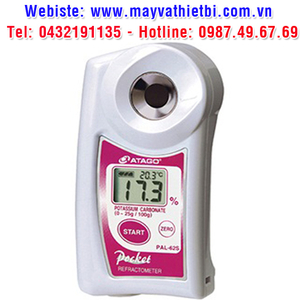 Khúc xạ kế Atago đo nồng độ kali cacbonat - Model PAL-62S