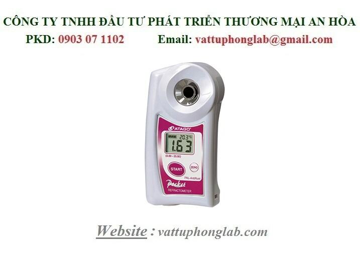 Khúc xạ kế đo nồng độ dung dịch tẩy rửa công nghiệp Model:PAL-Cleaner