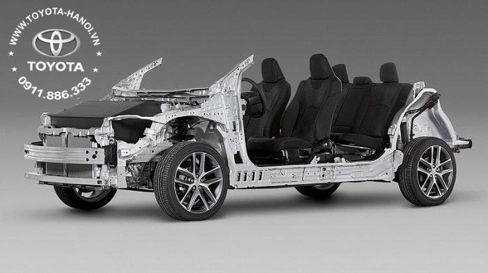 Khung gầm TNGA của Corolla Cross 2021