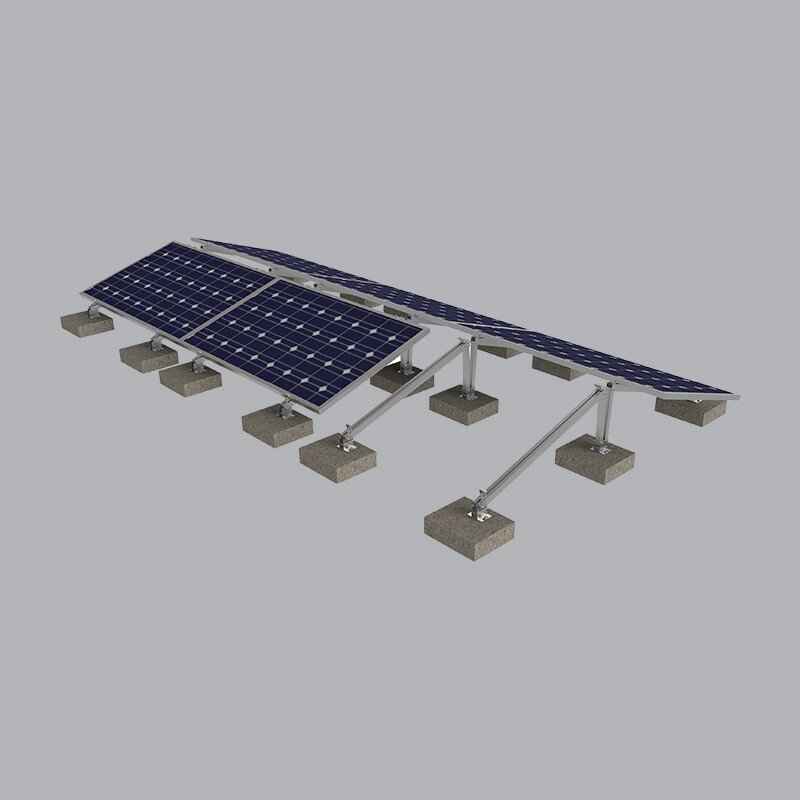 Khung Lắp Đặt MPE Solar Trên Mái Bằng