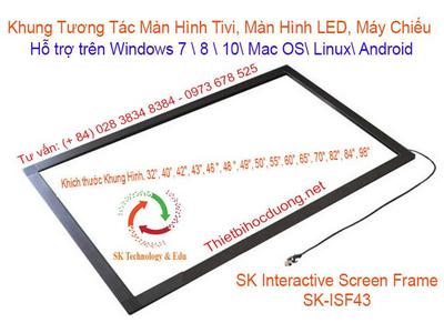 Khung tương tác màn hình 43 inch SK-ISF43