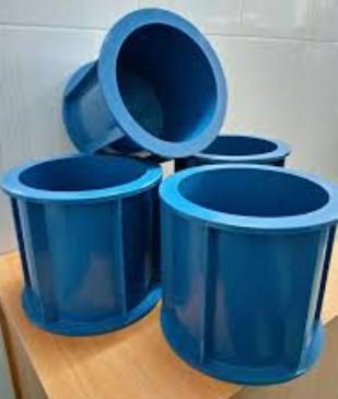 Khuôn đúc mẫu bê tông nhựa thử thấm 15x15cm