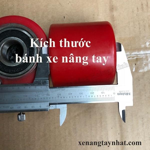 Kích thước của bánh xe nâng tay- Phụ tùng xe nâng Hoàng Minh