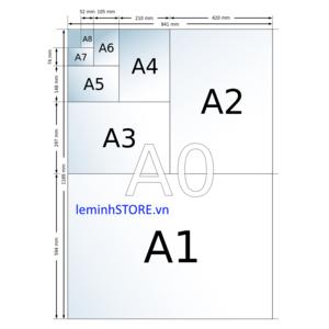 Kích thước khổ giấy A0 đến A4 trong autocad