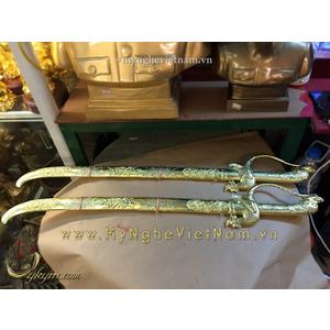 Kiếm rồng thờ cúng phong thủy bằng đồng dài 60cm