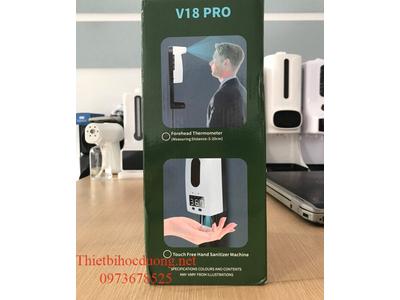 Kiểm tra thân nhiệt và khử trùng tay với bộ V18 Pro
