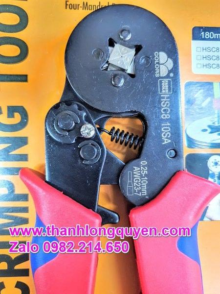 Kìm Bấm Cos Pin Tròn Rỗng Fasen Hsc8 10sa 0.25-10mm2
