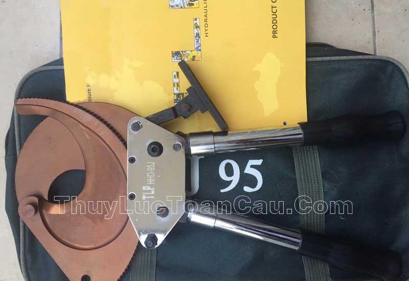Kìm cắt cáp điện HHD-95J - Tăng lực bằng cơ cấu bánh cóc răng cưa