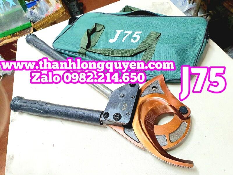 kìm kéo cắt cáp nhông tlq-j75 cắt copper aluminium dia 75mm