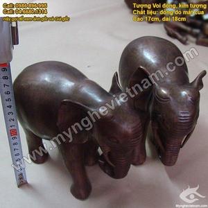 Kim tượng, voi đồng giả cổ 10cm