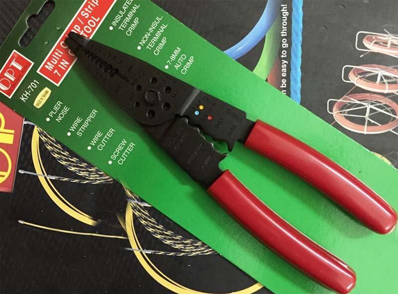 Kìm tuốt dây điện đa năng Opt mã KH-701, KH-702