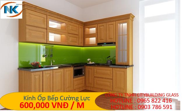 kính bếp xanh lá