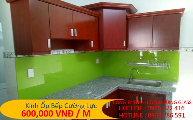 kính bếp màu xanh lá