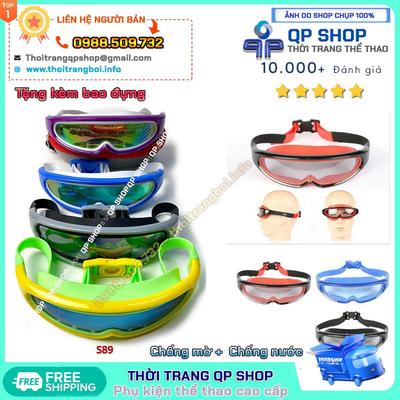 Kính bơi Speedo S89 chống nước chống mờ chống UV Tặng kèm bao đựng
