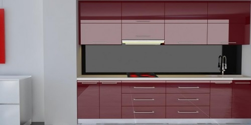Thi công lắp đặt kính màu ốp bếp tại Thủ Đức, Tp HCM