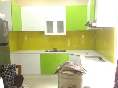 Kính ốp bếp màu vàng chanh - Kính màu trang trí phòng bếp