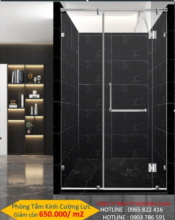 kính phòng tắm cửa mở