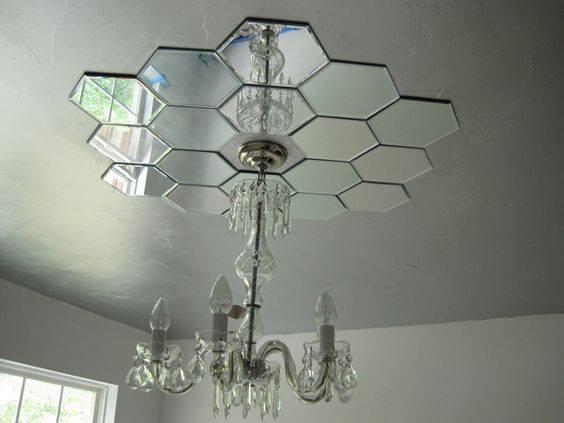 Kính tráng thủy (gương) lục giác xếp hình trang trí nội thất
