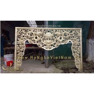 Làm cửa võng bằng đồng trang trí bàn thờ gia tiên theo yêu cầu