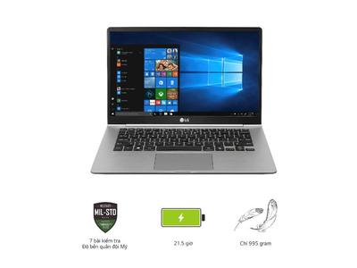 Laptop LG gram 14Z980-G. AH52A5 Xám (Cpu i5 - 8250U, Ram 8GD4 2400 MHz, 256 G SSD M.2, 14 inch FHD