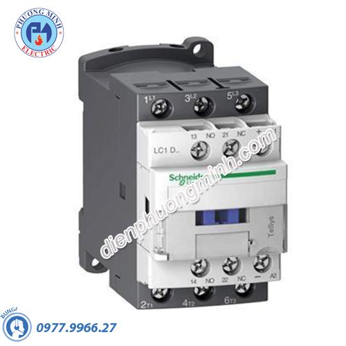 Contactor 3P, cuộn dây điều khiển 24VAC 50/60Hz 25A 1N/O 1N/C - Model LC1D25B7