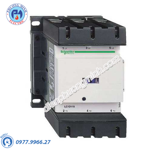Contactor 3P, cuộn dây điều khiển 415VAC 50/60Hz 150A 1N/O 1N/C - Model LC1D150N7