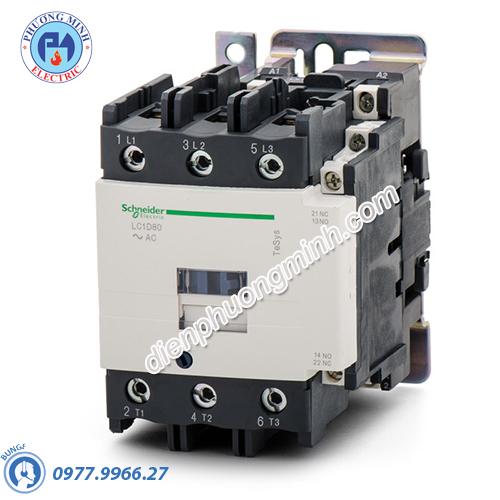 Contactor 3P, cuộn dây điều khiển 220VAC 50/60Hz 115A 1N/O 1N/C - Model LC1D115M7