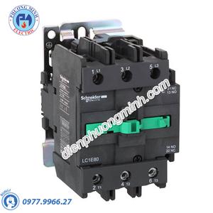 Contactor 3P 80A 440VAC LC1E - Model LC1E80R6